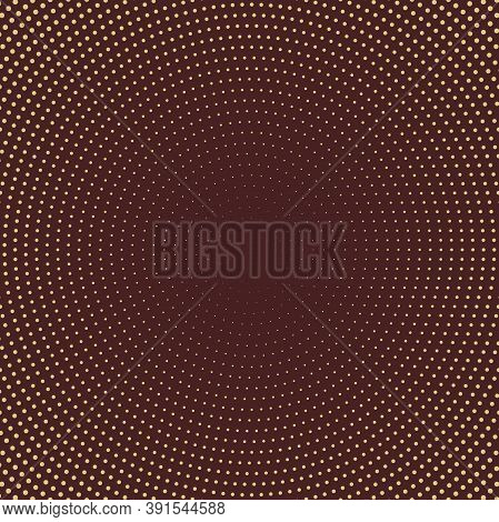 Geometric Modern Vector Pattern. Brown And Golden Ornament With Golden Dotted Elements. Geometric Ab