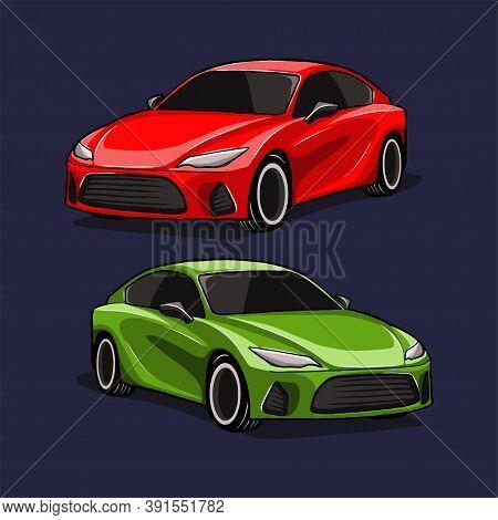Car. Car Vector. Car Illustration. Sports Car. Car Symbol For The Logo. Automotive Vector. Car Logo.