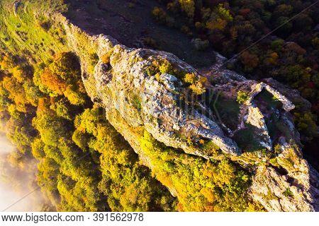 Aerial View Down To Kojori Fortress On Azeuli Hill.