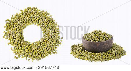 Organic Mung Beans - Vigna Radiata. Text Space