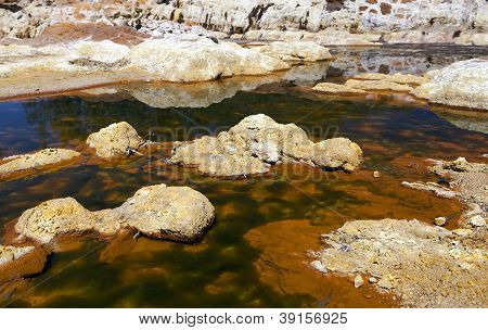 Extreme Acidic River Tinto In Niebla, Spain