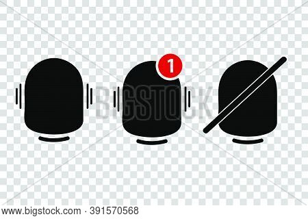 Vector Silhouette, Icon Or Logo, Bell, Ring, Alert, Notification.
