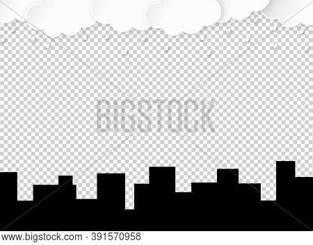 Cloud Rain With Building And Town Isolate On Png Or Transparent  Background, Rain Season, Cloudy Day