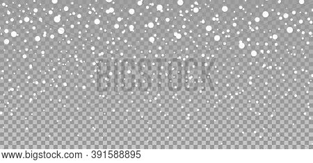 Snow Background. Snowflake And Snowfall. Flake Of Snow Fall In Christmas. Winter Texture Isolated On