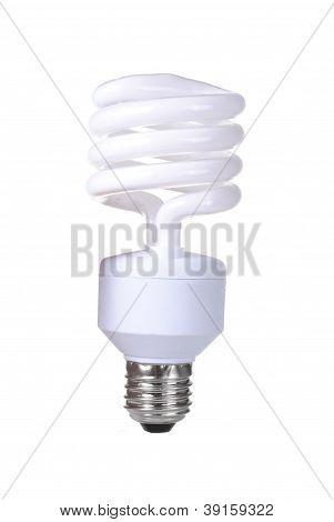 energy saver bulb isolated on white background