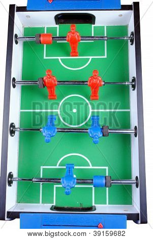 close up of a foosball isolate on white background