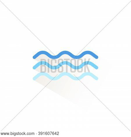 Surge. Isolated Color Icon. Weather Glyph Vector Illustration