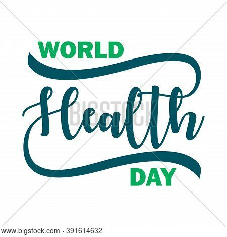 World Health Day Vector Typography Lettering Logo Design Vector, World Health Day Vector Illustratio