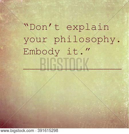 Inspirational words against original textured background image