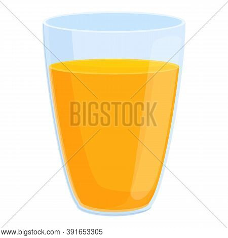 Breakfast Juice Glass Icon. Cartoon Of Breakfast Juice Glass Vector Icon For Web Design Isolated On
