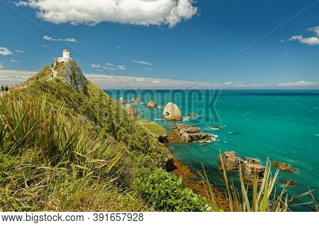 New Zealand - Nugget Point On Southern Island, One Of The Most Iconic Landforms On The Otago Coast,