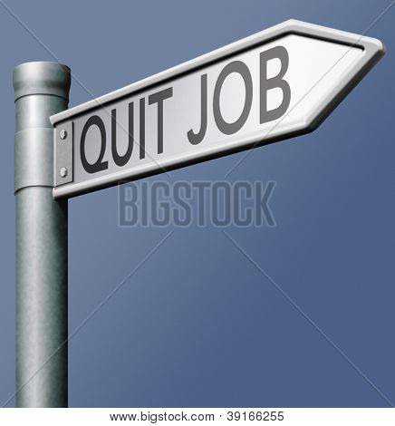 quit job quitting stressful work and change profession resign and start new career