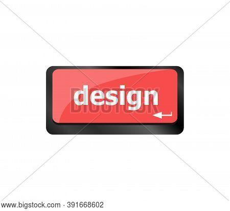 Design Word On Computer Keyboard Keys Button