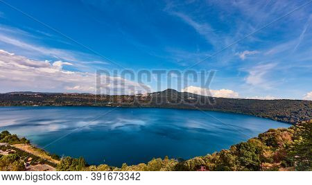 Castel Gandolfo near Rome summer residence of the popes Lazio Italy landmark