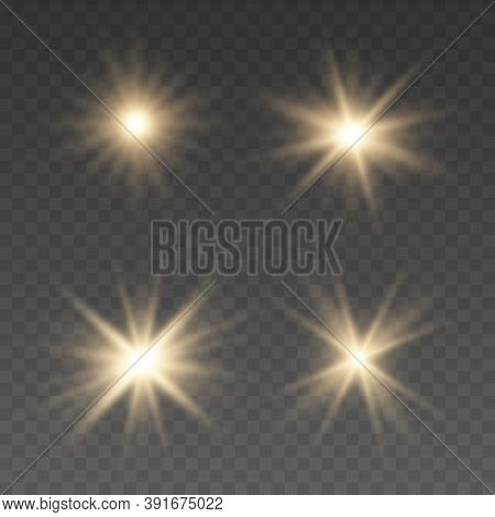Light Effect Bright Star. Beautiful Light For Illustration. Christmas Star. Flashes And Glares. Brig
