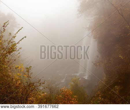 Falling Springs Falls Is A Beautiful Landscape Of A Waterfall In Alleghany County, Virginia. It Was