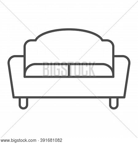 Sofa Thin Line Icon, Furniture Concept, Couch Sign On White Background, Divan For Living Room Icon I