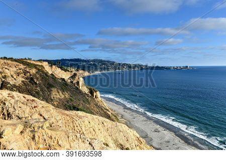 Black's Beach In San Diego, California, A Clothing Optional Beach, Popular With Southern California