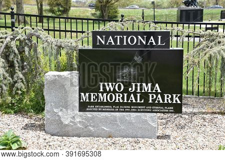 New Britain, Ct - May 16: National Iwo Jima Memorial In New Britain, Connecticut, As Seen On May 16,