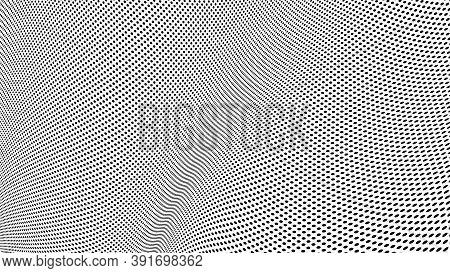 Black Halftone Pattern, Grunge Dots Background. Vector Illustration