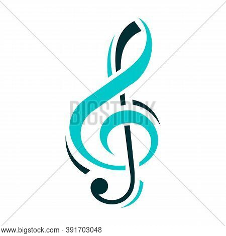 Music Notes Logo Creative Abstract Key Note Symbol Instrumental Template