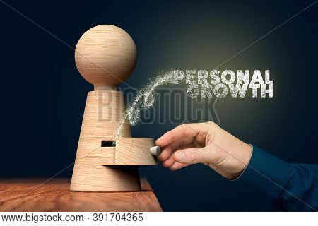 Coach Unlock And Open Hidden Potential To Personal Growth - Motivation Concept. Coach (manager, Ment
