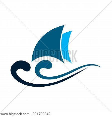 Boat Logo. Yacht Logo. Cruise Ship Logo Template Vector Icon Illustration Design, Ship Logo, Nautica