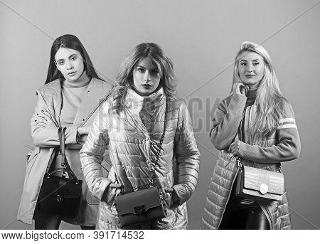 Consumer Concept, Spring Autumn Fashion, Attractive Young Women.