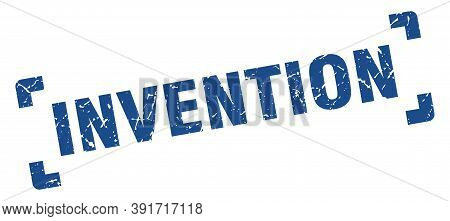 Invention Stamp. Square Grunge Sign Isolated On White Background