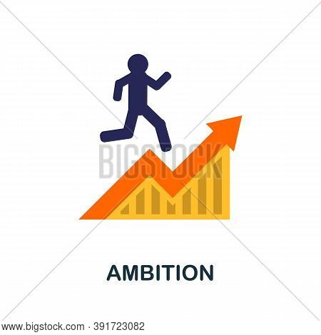 Ambition Icon. Simple Element From Core Values Collection. Creative Ambition Icon For Web Design, Te