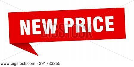 New Price Banner. New Price Speech Bubble. New Price Sign