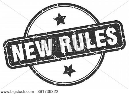 New Rules Grunge Stamp. New Rules Round Vintage Stamp