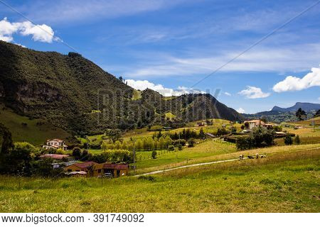View Of The Beautiful Mountains At The Famous Alto De Las Arepas A Well Known Rest Place For Cyclist
