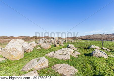 Giant Thombs S From The Bronze Age At Archeological Site Of Tamuli, Sardinia Island, Italy
