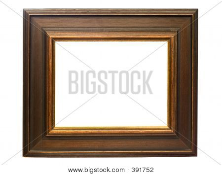 Dark Wooden Picture Frame W/ Path