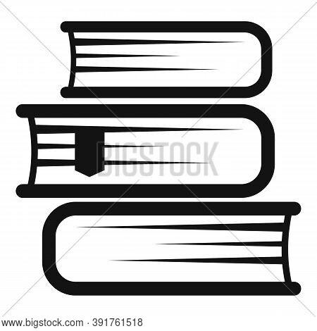 Internship Book Stack Icon. Simple Illustration Of Internship Book Stack Vector Icon For Web Design