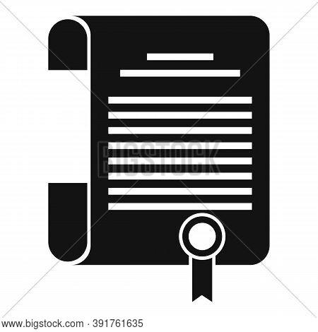 Internship Diploma Icon. Simple Illustration Of Internship Diploma Vector Icon For Web Design Isolat
