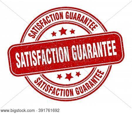 Satisfaction Guarantee Stamp. Satisfaction Guarantee Label. Round Grunge Sign