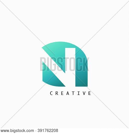 Abstract Techno Letter N Logo Icon, Vector Design Concept Petal Shape With Letter Logo Icon For Tech