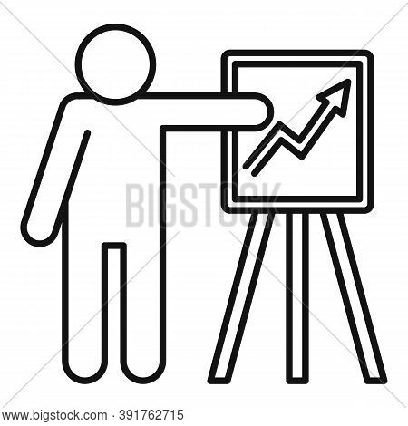 Business Training Seminar Icon. Outline Business Training Seminar Vector Icon For Web Design Isolate