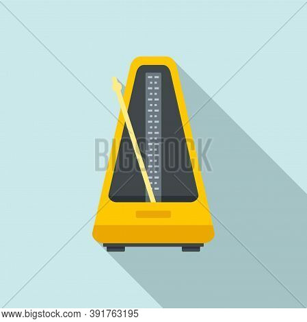 Control Metronome Icon. Flat Illustration Of Control Metronome Vector Icon For Web Design