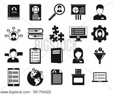 Sociology Communication Icons Set. Simple Set Of Sociology Communication Vector Icons For Web Design