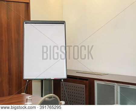 Empty Space White Board In Meeting Room