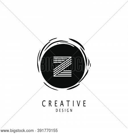 Monogram Circle Sun Letter Z Logo. Vector Design Concept Sun Shape With Letter Z Logo On Monogram Co