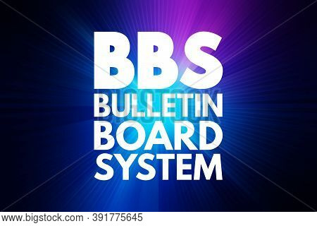 Bbs - Bulletin Board System Acronym, Technology Concept Background