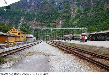 Flam, Norway - 25 Jun 2012: Flamsbana, The Flam Railway, Norway