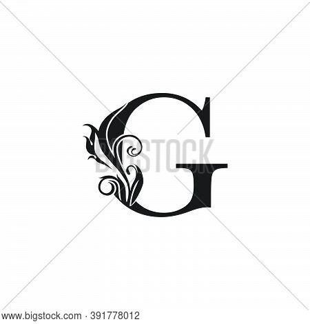 Monogram Luxury Letter G Logo Icon. Simple Luxury Design Concept Floral Leaves With Letter G Logo Ic