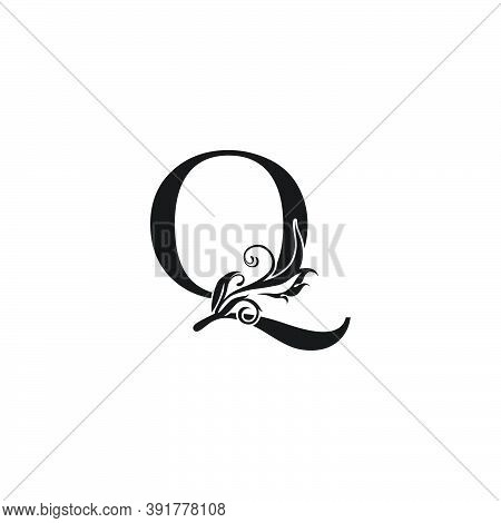 Monogram Luxury Letter Q Logo Icon. Simple Luxury Design Concept Floral Leaves With Letter Q Logo Ic