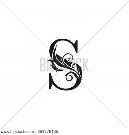 Monogram Luxury Letter S Logo Icon. Simple Luxury Design Concept Floral Leaves With Letter S Logo Ic