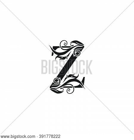 Monogram Luxury Letter  Z Logo Icon. Simple Luxury Design Concept Floral Leaves With Letter Z  Logo